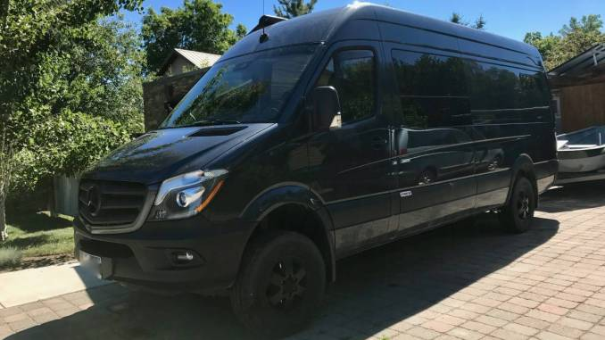 2015 Mercedes Sprinter 4X4 Converted Cargo Van Camper in Bozeman, MT