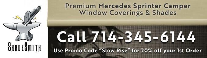 Mercedes Sprinter Camper Window Coverings